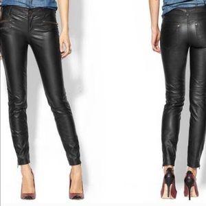 Free People Vega leather Jeans.